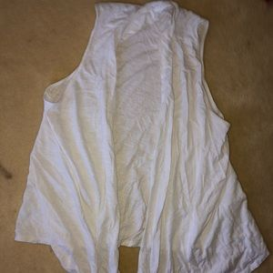 a WHITE FLOWY SUMMERY VEST